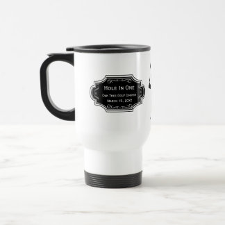 Personalized Hole In One Man Cave GOLFER'S Lodge Stainless Steel Travel Mug