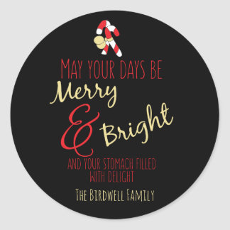Personalized Holiday Baked Goods Classic Round Sticker