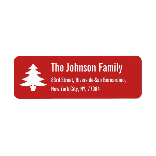Personalized Holiday Christmas Tree Return Address