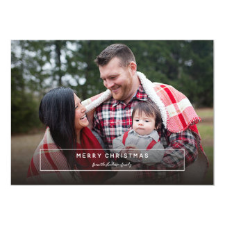 Personalized Holiday Message Photo Card