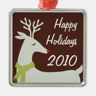 Personalized Holiday Metal Ornament