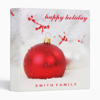 Personalized Holiday Ornaments Binders