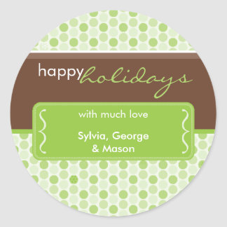 PERSONALIZED HOLIDAY STICKER :: spotted bracket 2