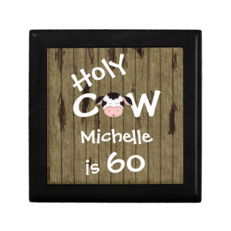 Personalized Holy Cow 60th Birthday Jewelry Box
