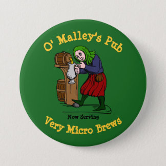 Personalized Home Brewer Pub Logo 3 Inch Round Button