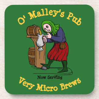 Personalized Home Brewer Pub Logo Coaster
