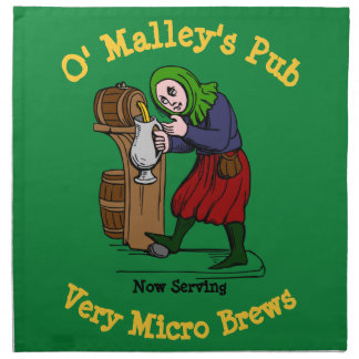 Personalized Home Brewer Pub Logo Napkin