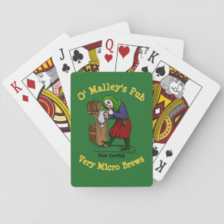 Personalized Home Brewer Pub Logo Playing Cards