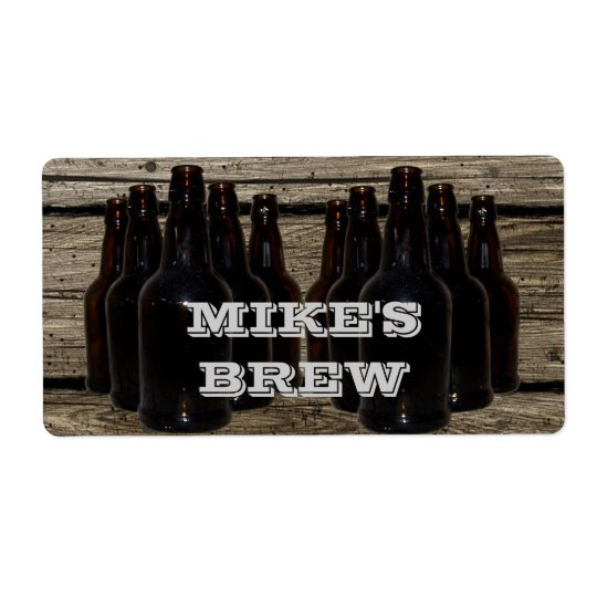 Personalized Home Brewing Beer Brewer's Labels