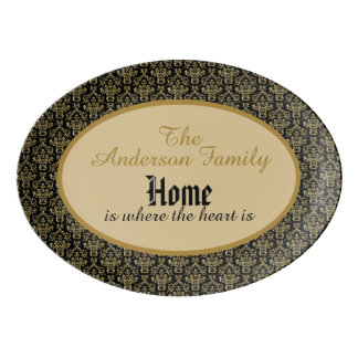 "Personalized ""Home is where the heart is"" Platter"