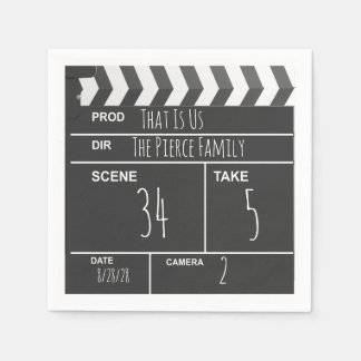 Personalized Home Theater Custom Movie Clapboard Paper Napkin