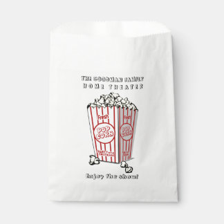 Personalized Home Theater Custom Popcorn Favour Bag