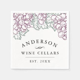 Personalized Home Wine Cellar Disposable Napkin