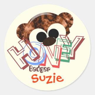Personalized Honey Badger Round Sticker
