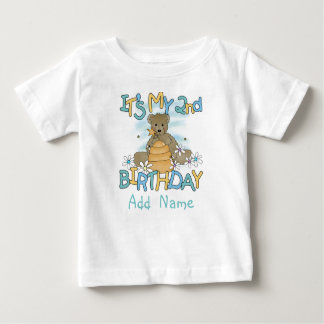 Personalized Honey Bear 2nd Birthday Tshirt