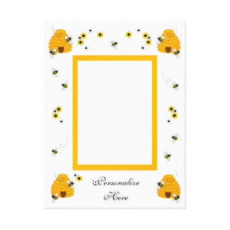 Personalized Honey Bumble Bee Photo Wall Art Print Canvas Prints