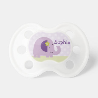 "Personalized ""Hopscotch Elephant"" Baby Pacifier"