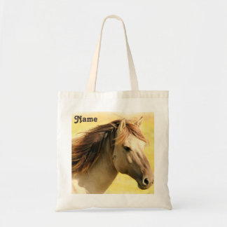 Personalized Horse Painting Tote Bag