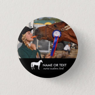 Personalized Horseback Riding Equestrian Photo 1 Inch Round Button