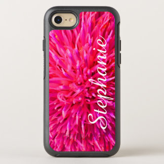 Personalized Hot Pink Abstract Apple iPhone 7 OtterBox Symmetry iPhone 7 Case
