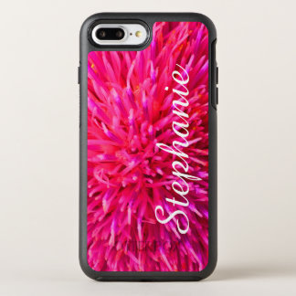 Personalized Hot Pink Abstract Apple iPhone 7 Plus