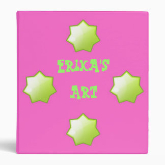 Personalized hot pink Avery Binder Memory book