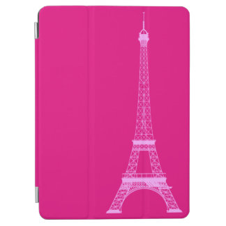 Personalized Hot Pink Eiffel Tower iPad Air Cover
