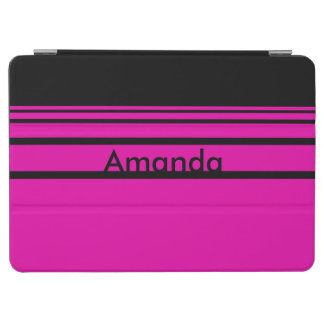 Personalized Hot Pink Striped Pattern iPad Air Cover