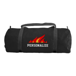 Personalized hot stuff duffle gym bag for workout
