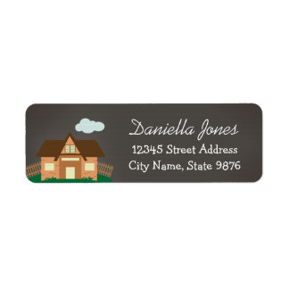 Personalized House Return Address Label