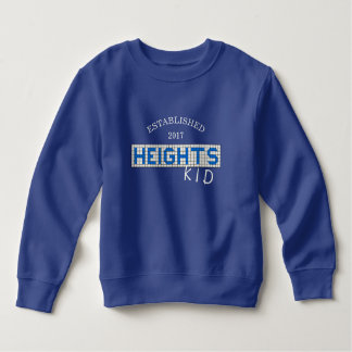 Personalized Houston Heights Blue & White Tile Kid Sweatshirt