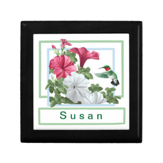 Personalized Hummingbird Keepsake Gift Box