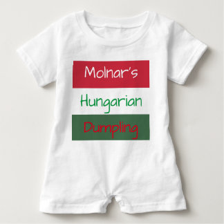 Personalized Hungarian Baby Romper