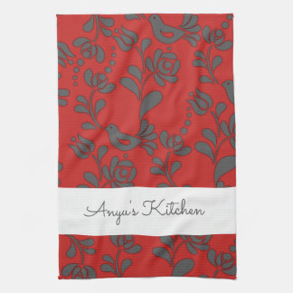 Personalized Hungarian Folk Art Hand Towels