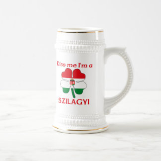 Personalized Hungarian Kiss Me I'm Szilagyi 18 Oz Beer Stein
