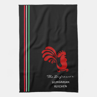 Personalized Hungarian Kitchen Hand Towel