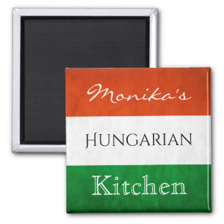 Personalized Hungarian Kitchen Square Magnet