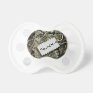Personalized Hunter Military Camo Baby Pacifiers