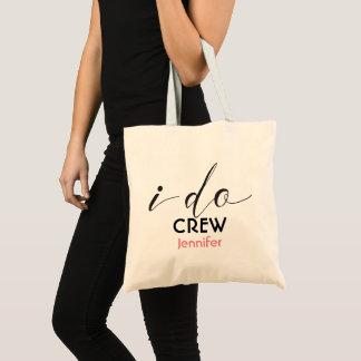 Personalized I Do Crew Bridesmaid Wedding Tote Bag