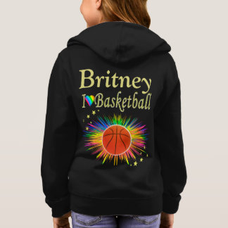 PERSONALIZED I LOVE BASKETBALL HOODIE