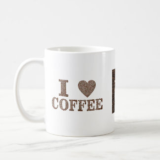 Personalized I Love Coffee Coffee Mug