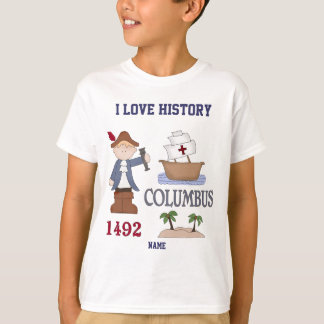 Personalized I love History Christopher Columbus Tee Shirts