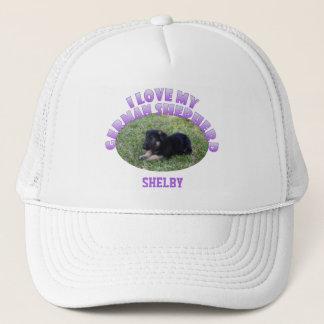 Personalized: I Love My German Shepherd Hat