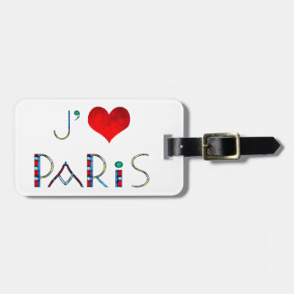 Personalized I Love Paris Notre Dame Stained Glass Luggage Tag
