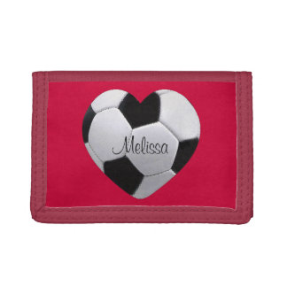 Personalized I Love Soccer Wallet