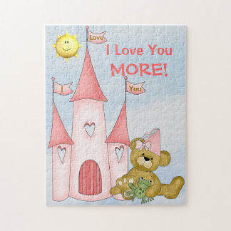 Personalized I Love You More puzzle Princess