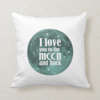 PERSONALIZED I LOVE YOU MORE reversible lovepillow Throw Pillow