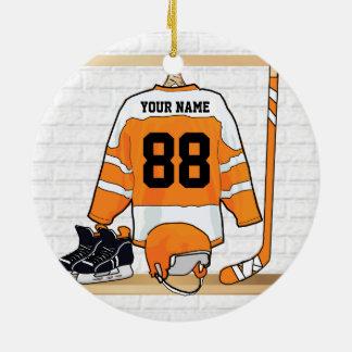 Personalized Ice Hockey Jersey Christmas Tree Ornament