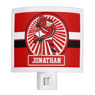 Personalized Ice Hockey player Nite Lite