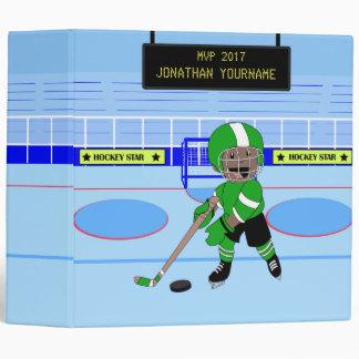 Personalized Ice Hockey star Binder